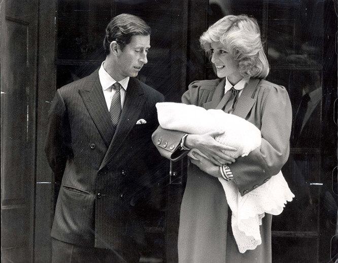 принцесса Диана с мужем и сыном