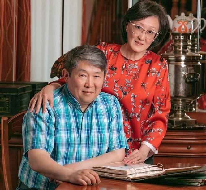 Сардана Авксентьева с мужем Виктором
