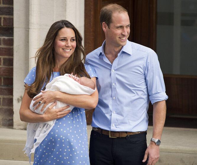 Кйт Миддлтон и принц Уильям с ребенком