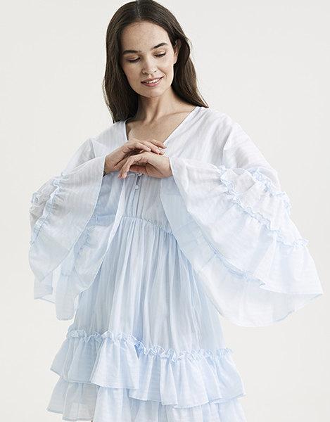 Обязательный летний тренд: выбираем платье с объемными рукавами