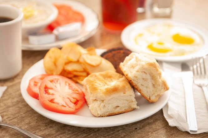 школьный завтрак, еда