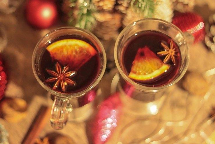 Рождественский глегг с имбирем, бадьяном и апельсином