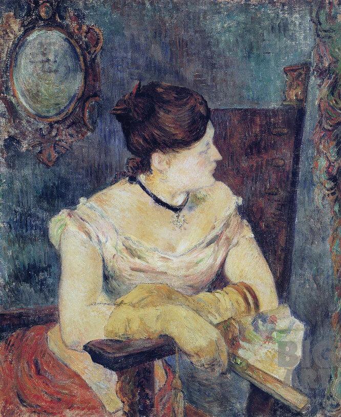 Метте Гоген в вечернем платье. 1884