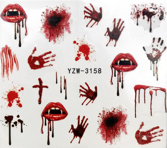 Наклейки для дизайна ногтей, Aliexpress, 148 руб