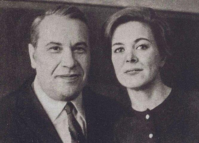 Марк Бернес и Лилия Бодрова
