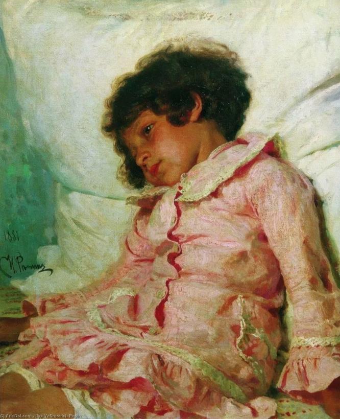 Надя Репина в детстве