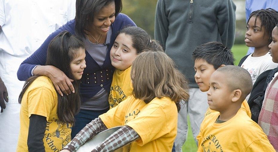 Мишель Обама сражается сдетским ожирением