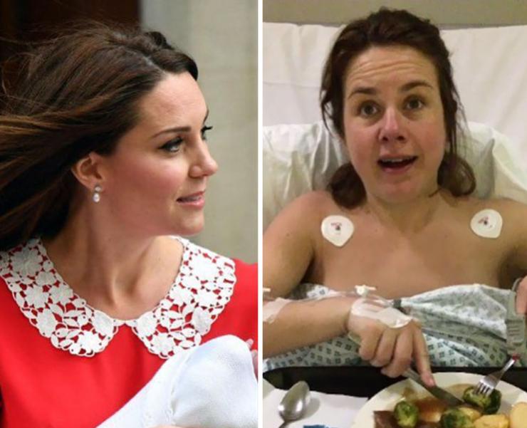 «Вот яиКейт Миддлтон черезсемь часов после родов. Я— справа, если кто-то сомневается»— Нина Вархерст/Twitter