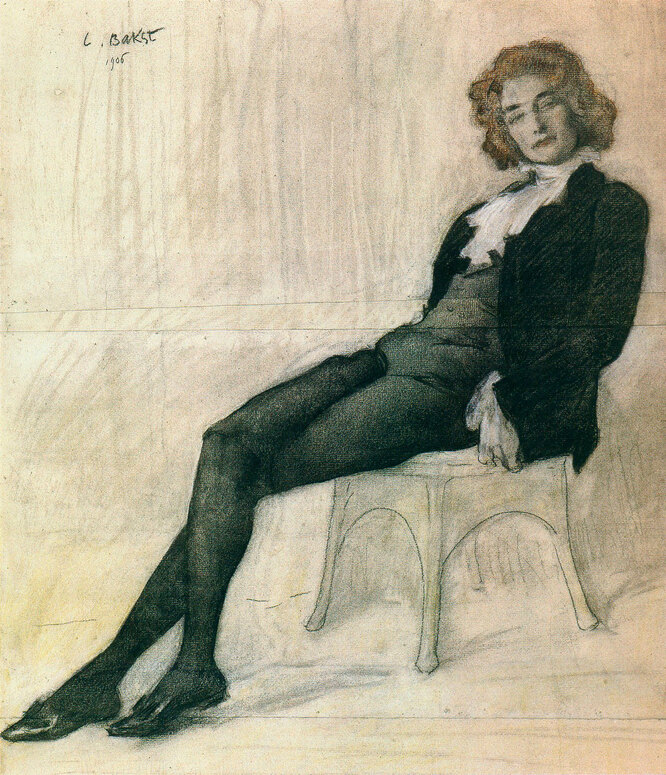 З. Гиппиус, Л. Бакст, 1906 год
