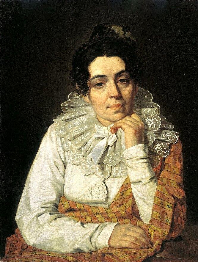 Портрет жены художника Марфы Афанасьевны Венециановой