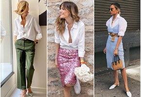 С чем носить белую рубашку: 6 крутых летних образов