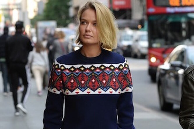Звездный стиль: платье-свитер