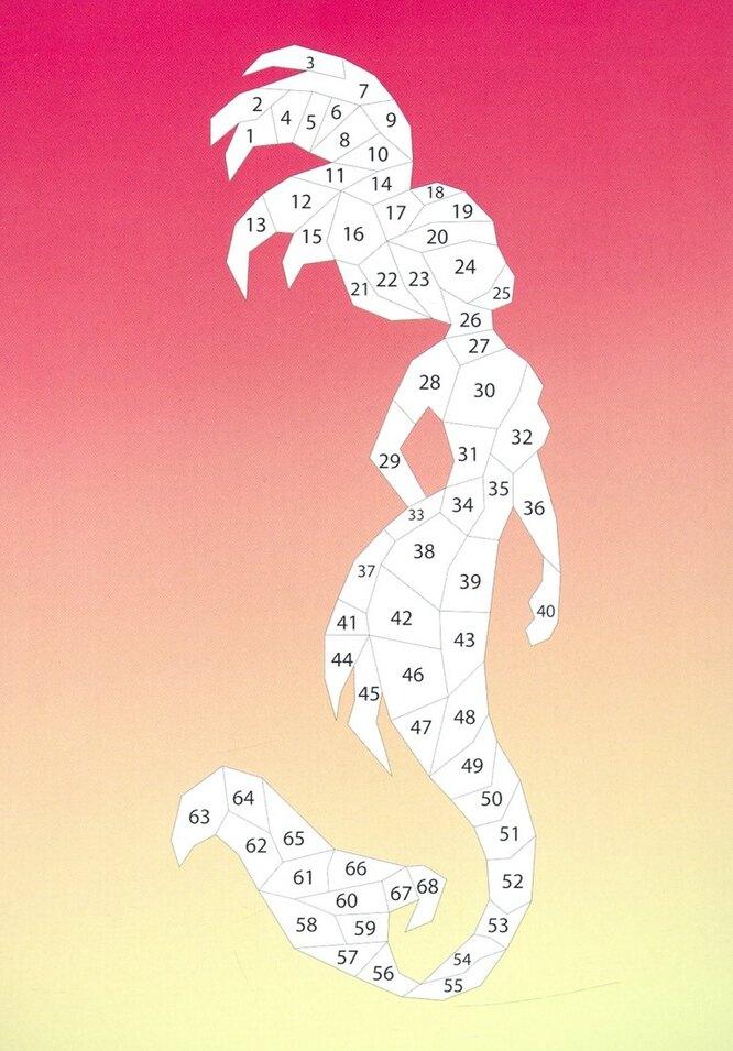 """Набор наклеек по номерам """"Сказочные существа"""", Лабиринт, 448 руб"""
