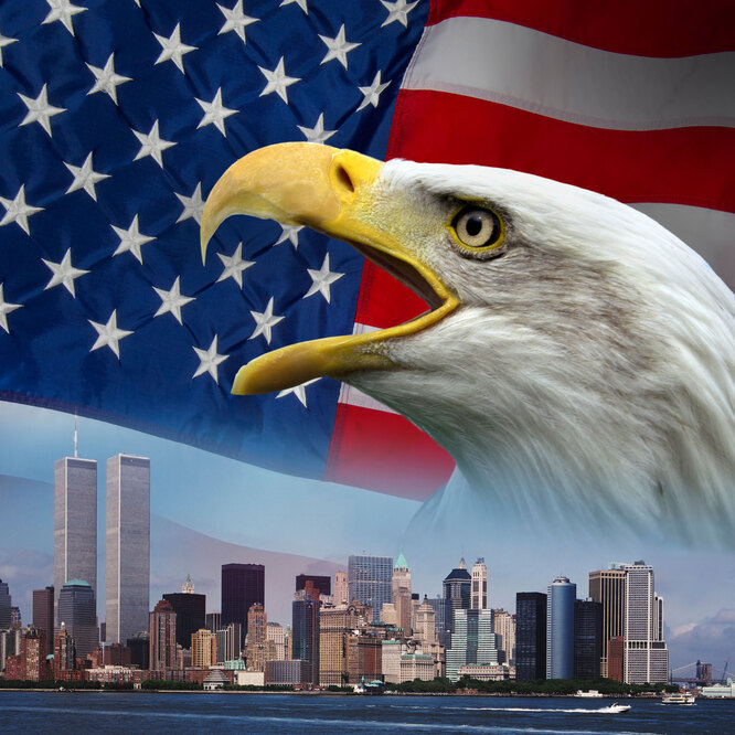 символ США и Башни-близнецы