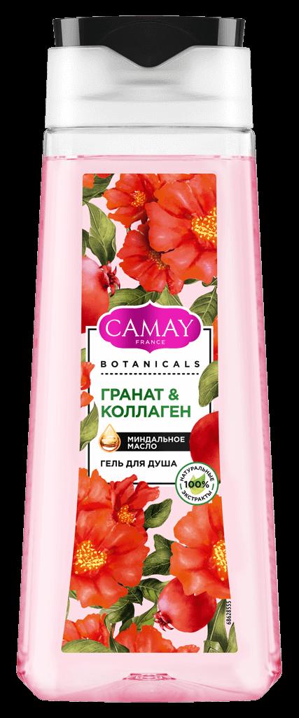 Гель для душа Camay Botanicals с ароматом цветов граната, 248 руб