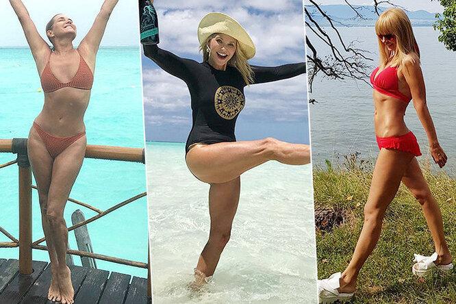 Красотки за50: Валерия, Шерон Стоун идругие звезды, которые круто выглядят вкупальниках