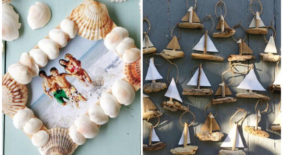 Поделки изракушек идругих «морских сокровищ»: красивый отпускной досуг