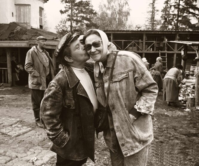 Елена Санаева и Ролан Быков