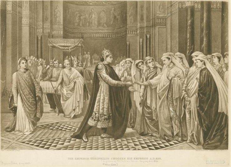 Выбор невесты императором Феофилом (литография, 1889 год)