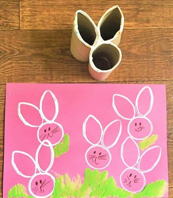 штамп кролик