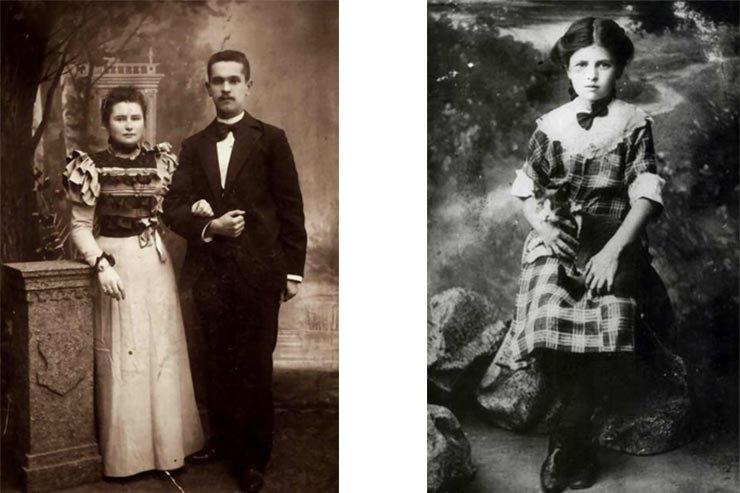 Родители Е.Благининой / Елена в14 лет