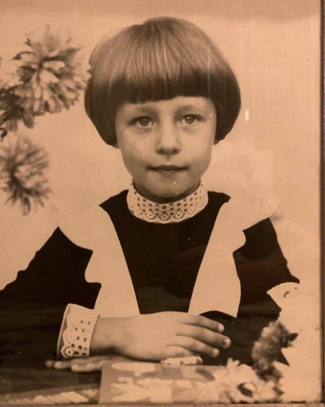 Наталья Сенчукова в школе