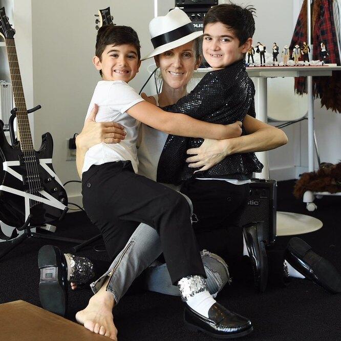 Селин Дион с детьми