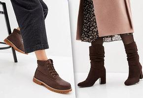 Все в шоколаде: топ-7 теплой обуви в коричневых тонах на зиму-2020
