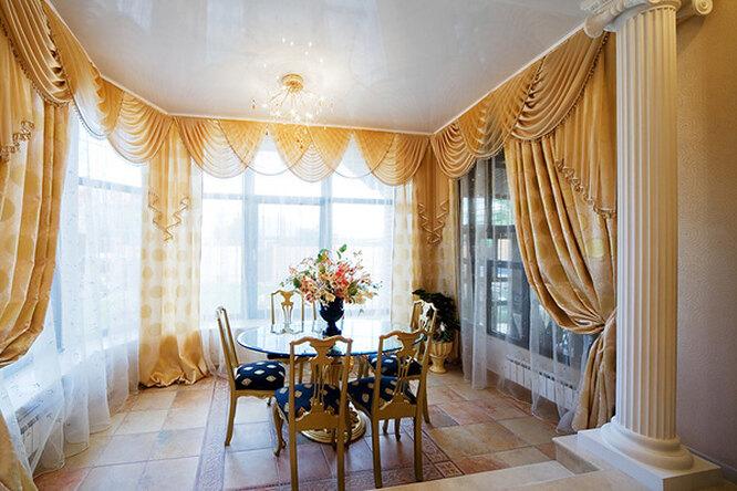 Украшение интерьера: шторы иламбрекены