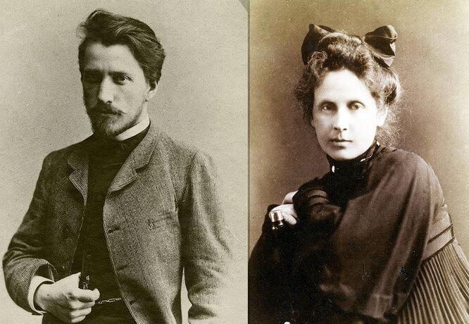 Валентин Серов и жена Ольга