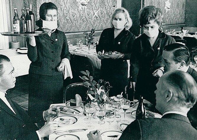 Ресторан гостиницы «Националь. 1969 год.