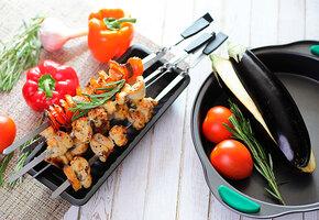 Дуэль на шпажках: готовим кальмары, тыкву, говядину и курицу