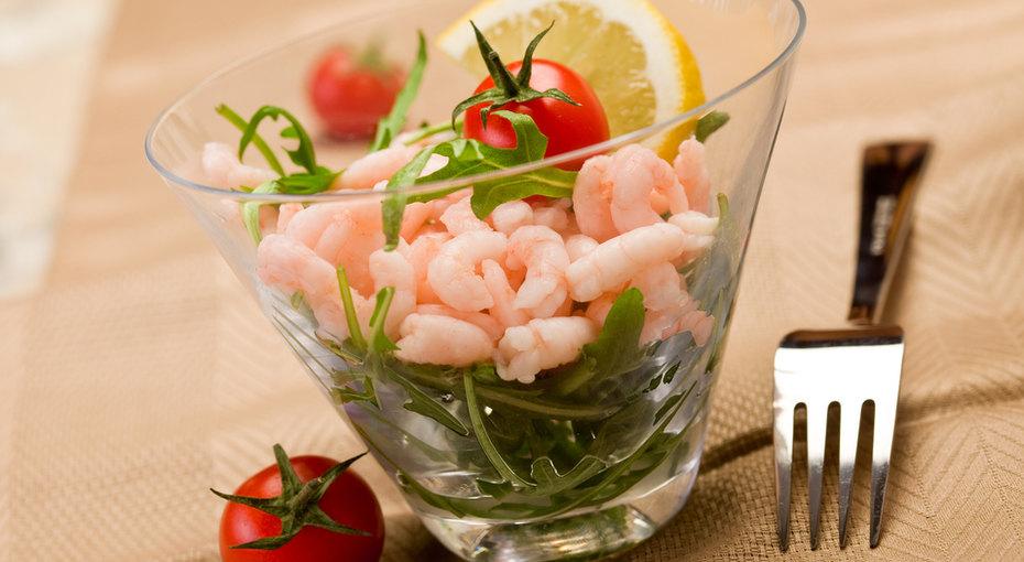 Экзотический салат изморепродуктов «Морской коктейль»