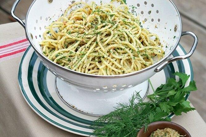 Спагетти с грибной приправой