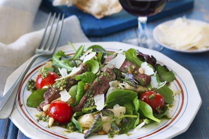Мясной салат по-итальянски