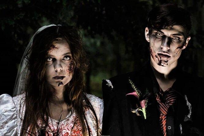 Кровь наплатье иторт измозгов: «зомби-молодожены» стали звёздами
