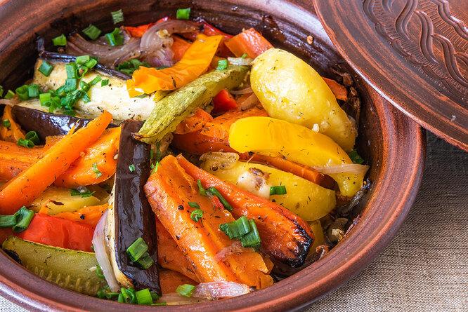 Рецепт овощного тажина