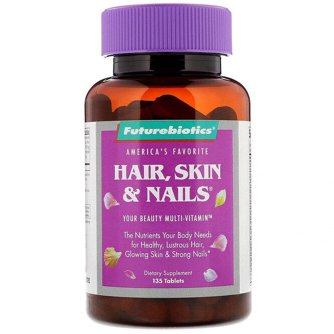 Средство для поддержания здоровья волос, кожи и ногтей, FutureBiotics, 1372 руб
