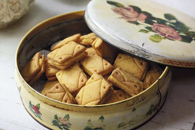 Печенье с заварным кремом