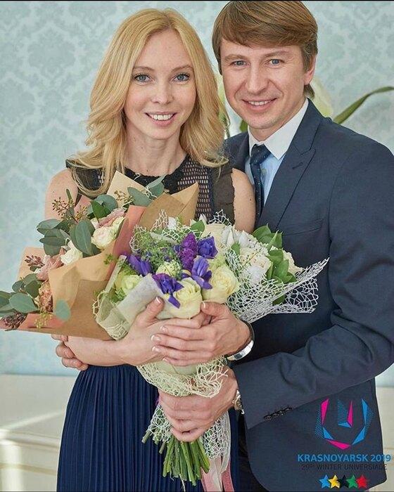 Алексей Ягудин иТатьяна Тотьмянина вгодовщину свадьбы 22 февраля 2020 года