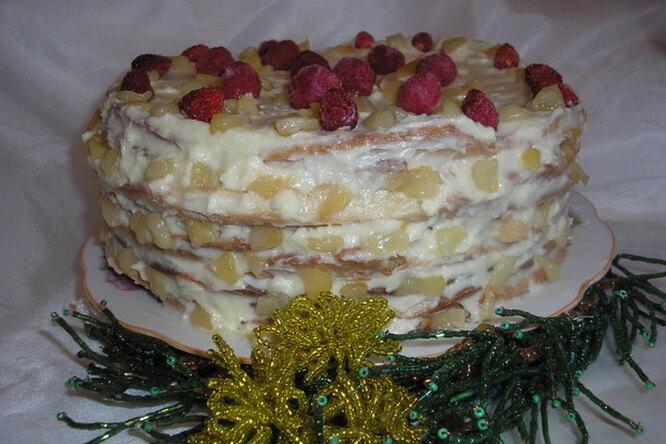 Медовый торт на Новый год
