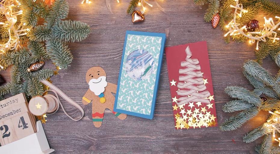 Как сделать трогательные новогодние открытки своими руками