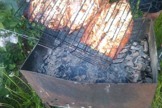 Скумбрия на огне
