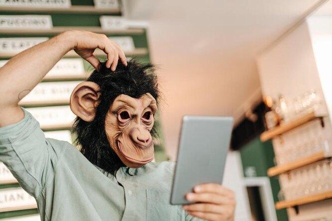 обезьяна, илон маск, телепатия