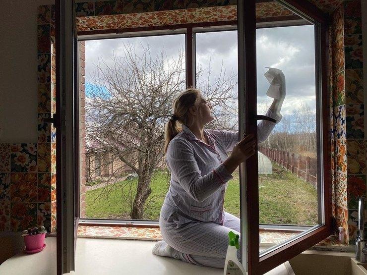 Недавно Пегова сделала большую уборку дома