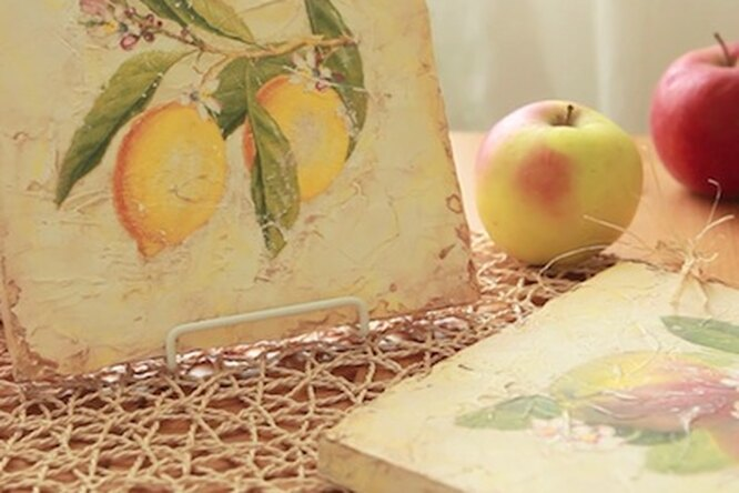 Мастер-класс подекупажу: панно симитацией фрески