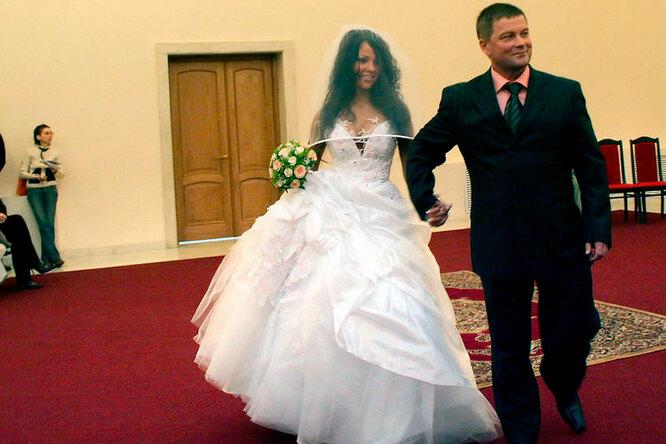 Елена Беркова со своим вторым мужем Владимиром Химченко