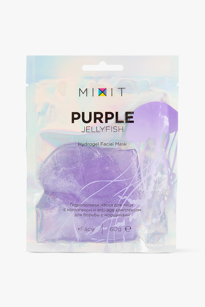 Гидрогелевая маска для лица Purple Jellyfish, MIXIT
