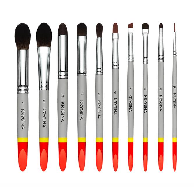 Набор кистей Krygina Makeup Brushes, 11800 рублей