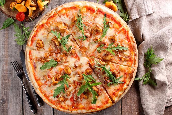 Рецепт пиццы с лисичками